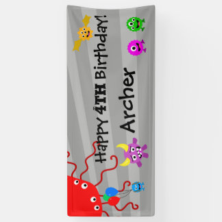 Monster-Geburtstags-Party-Fahne Banner