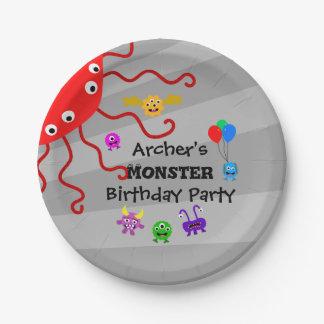 Monster-Geburtstags-Party-Teller Pappteller 17,8 Cm
