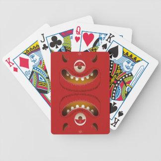 Monster-Gesicht Poker Karten