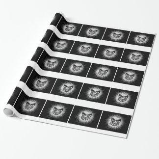 Monster-Schwarzweiss-Gesichts-Bild Geschenkpapier