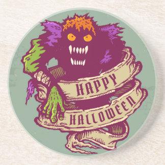 Monster und altes Band für Halloween Untersetzer