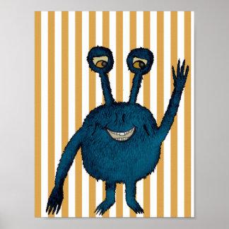Monsterposter, Poster Monster Kinderzimmer