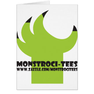 Monstroci-T-Shirts Greifer Karte