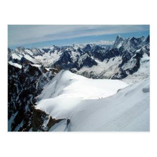 Mont Blanc, Frankreich-Postkarte Postkarte