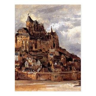 Mont Saint-Michel durch Theodore Rousseau Postkarte