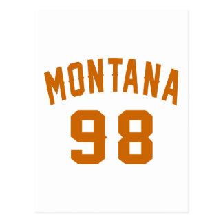 Montana 98 Geburtstags-Entwürfe Postkarte