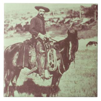 Montana-Cowboy, c.1880 (b/w Foto) Keramikfliese