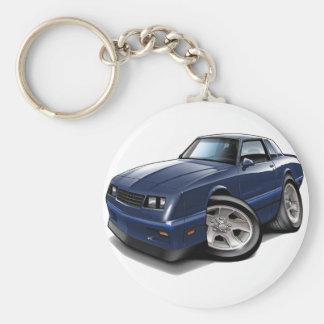 Monte Carlo Blau-Auto 1983-88 Standard Runder Schlüsselanhänger