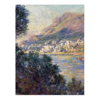 Monte Carlo gesehen von Roquebrune von Claude Postkarte