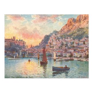 Monte Carlo Hafen Postkarte