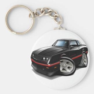 Monte Carlo schwarzes Auto 1983-88 Standard Runder Schlüsselanhänger