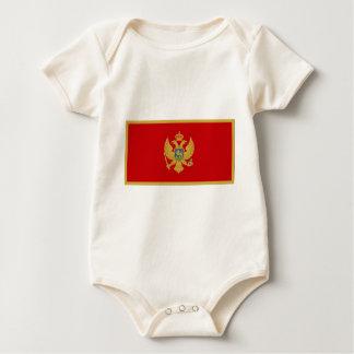 Montenegro-Flagge Baby Strampler