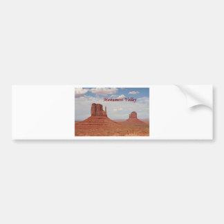 Monument-Tal, Utah, USA (Titel 1) Autoaufkleber