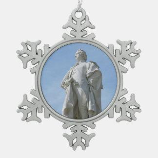 Monument von Johann Wolfgang von Goethe in Berlin Schneeflocken Zinn-Ornament
