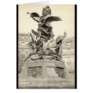 Monument zu Victor Hugo Paris Frankreich Vintag Karte