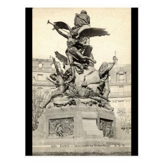 Monument zu Victor Hugo Paris Frankreich Vintag Postkarte