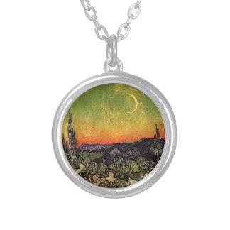 Moonlit Landschaft Vincent van Goghs Versilberte Kette