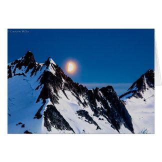 Moonrise auf dem Juneau Icefield - löschen Sie Karte