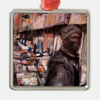 Moore-Straßendublin-Käufer Silbernes Ornament