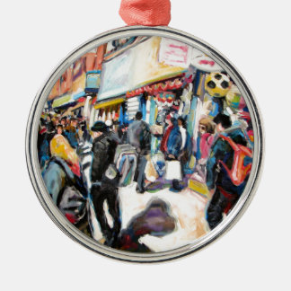 Moore-Straßendublin-Wasserbälle Silbernes Ornament