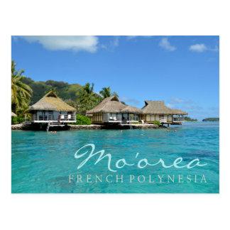 Moorea auf Französisch-Polynesien mit Postkarte