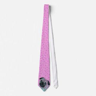 Mops-Hund Krawatte
