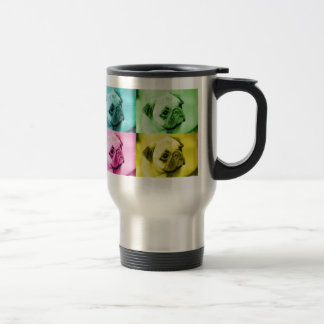 "Mops ""pop art"" thermobecher edelstahl thermotasse"