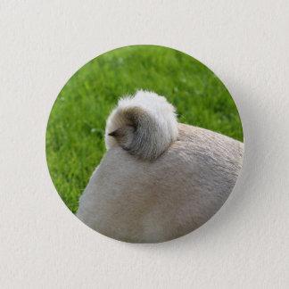 Mops-Schwanz Runder Button 5,1 Cm