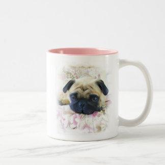 Mops-Tasse Zweifarbige Tasse