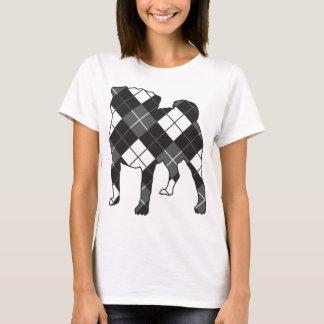 MopshundeSilhouette Raute T-Shirt