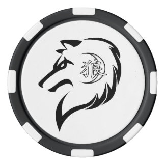 MOR-Wolf-Ausgaben-Poker-Chips Pokerchips