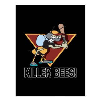 Mörder-Bienen Postkarte