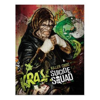 Mörder Croc Charakter-Graffiti der Postkarte