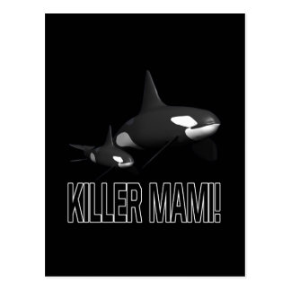 Mörder Mami Postkarte
