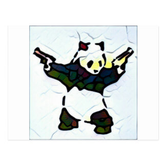 Mörder-Panda Postkarte