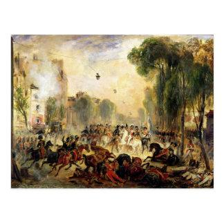 Mordversuch auf König Louis-Philippe Postkarte