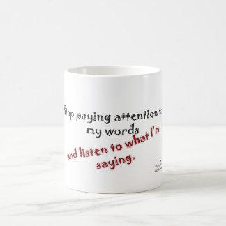 Morgen-Erinnerung, zum von Aufmerksamkeit zu Tasse