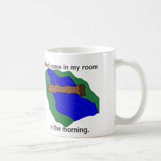 Morgen-Fluss-Holz Kaffeetasse