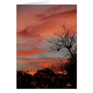 Morgen-Himmel Grußkarte