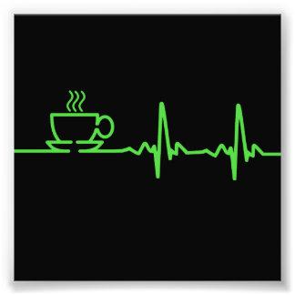 Morgen-Kaffee-Herzschlag EKG Photodrucke