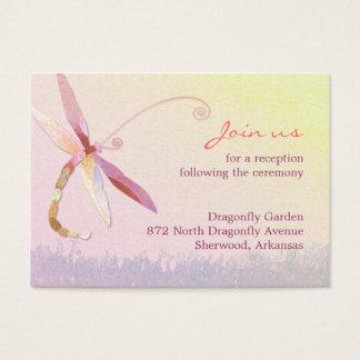 Morgen-Wiesen-Libellen-Hochzeits-Empfang Visitenkarte