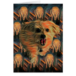 """Morkie Hund Karte """"der Schrei-"""" lustige des"""