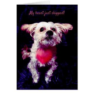 Morkie Hundewelpen-Liebe-niedliche Karte