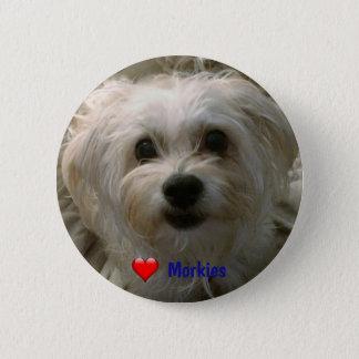 Morkie Welpen-HundeLiebe-niedlicher Knopf Runder Button 5,1 Cm