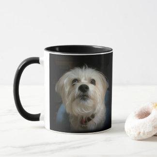 Morkie Welpen-Hundeniedliche Tasse
