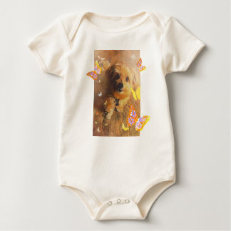 Morkie Welpen-Hundeniedlicher Baby Strampler