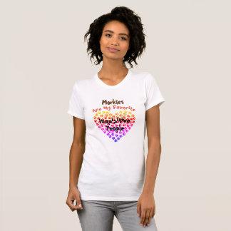 Morkies sind meine neugierigen Lieblingsleute - T-Shirt