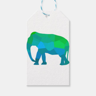 Mosaik-Elefant 1 Geschenkanhänger