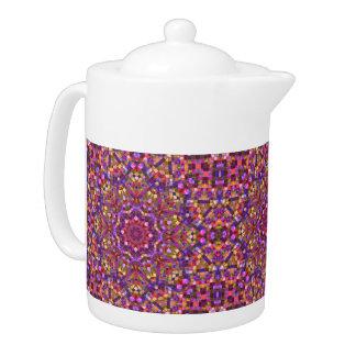 Mosaik-Kaleidoskop-Muster-Teekannen