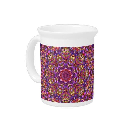 Mosaik-Kaleidoskop-    Porzellan-Krüge Getränke Krug